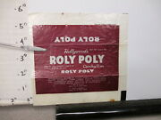 Candy Bar Wrapper 1940s Roly Poly Hollywood Centralia Il Chocolate Peanuts