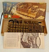 Vintage Model Kit 1/4 Complete Aurora Military M8 Carrier U.s. Army Munitions