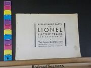 Replacement Parts For Lionel Electric Trains And Accessories Catalog No Date