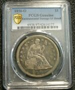 1850-o New Orleans Mint Seated Liberty Silver Dollar Pcgs Xf Detail