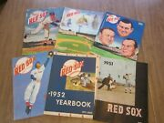 1951-1959 Boston Red Sox Baseball Yearbook Lot 6