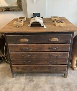 Antique Letter Press / Drafting Table