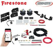 Firestone Ride Rite Air Bags And Wireless Compressor For 17-22 Ford F250 F350 2wd