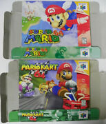 Super Mario 64 And Mario Kart 64, Boxes Only Nintendo 64, Authentic See Pics