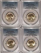 2021 P And D Native Sacagawea Dollar 4 Coin Set 1 Pcgs Ms66 Position A And B