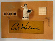 2005 Donruss Leather And Lumber Leather Cuts Al Kaline Relic Auto 55/58