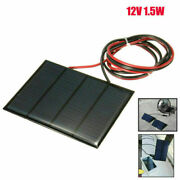 1.5w 12v Diy Small Cell Battery Solar Panel Module Epoxy Charger + Welding Wire