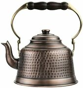 100 Handcrafted Heavy Gauge 1mm Thick Hammered Antique Solid Copper Tea Kettle