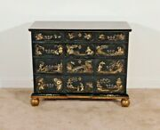 Baker Furniture William And Mary Chinoiserie 4 Drawer Chest Dresser