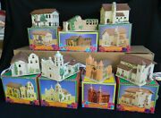 Mervyns California Missions Churches Set Of 7 In Boxes
