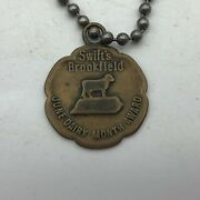 Vintage Swift's Brookfield Dairy Month Award Advertising Fob Keychain Scarce M3