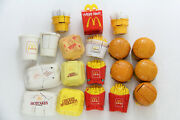 19x Mcdonalds Changeables Food Transformers All Different Happy Meal Vintage Lot