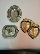 Group Of 3 Ashtrays New York X 2 And Ocean City Md X 1