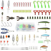 Fishing Lure Set Vib Topwater Floating Lures Soft Lure Plastic Worms Frogs Hooks