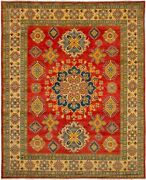 Vintage Geometric Hand-knotted Carpet 8and0392 X 10and0392 Traditional Wool Area Rug