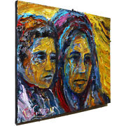 Art Realism Signed Abstract A█modern Original Oil█painting█vintage█impressionist