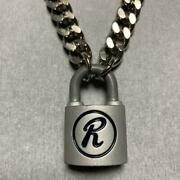 Sid Vicious Wearing Rabbit Company Engraved Chain Necklace Padlock With Key