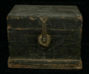 14 Chinese Huang Huali Wood Inlay Coin Storage Jewelry Box Treasure Case Statue
