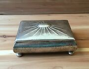 Antique / Vintage Artisan Jewelry Box - .800 Sterling Silver - Hand Hammered