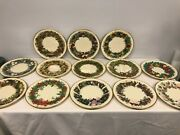 Complete Set Of 13 Lenox Colonial Christmas Annual Plates 1981 - 1993 Mint Cond