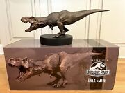 Jurassic Park Bronze T-rex Sideshow Chronicle Collectible Statue - Rare Sold Out