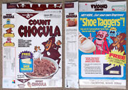 Vintage 1985 1980andrsquos General Mills Count Chocula Cereal Box Series 93 Monster