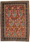 Semi Antique Floral Maroon Red 4and0396x6and0393 Oriental Rug Handmade Foyer Size Carpet