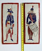 Vintage Hand-painted Tiles Featuring Colonial Soldiers Numbered Limited Edition