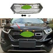 Matte Gray Front Center Mesh Grille Grill Cover Trim 1pc For Ford Edge 2015-2018