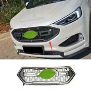 Matte Gray Front Center Mesh Grille Grill Cover Trim 1pc For Ford Edge 2019-2021