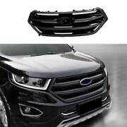 Paint Black Front Center Mesh Grille Grill Cover Trim For Ford Edge 2015-2018
