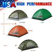 Camping Tent Single Layer Sleeping Bed Outdoor Beach Tent With Insect Mesh E4p0