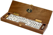 Le Club Luxury Domino Set With Handcrafted Walnut Case And Cribbage / Counter To