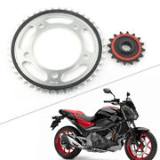 Motorcycle Cushioned 16t Front Andrear Sprocket 43t Rubber For Honda Nc700 2012-15