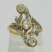 Royal Antique Style Wedding Victorian Ring 14k Yellow Gold Over 2.81 Ct Diamond
