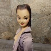 Vintage Doll Counter Store Display Mannequin 1950s Dress 19 Advertising Plaster