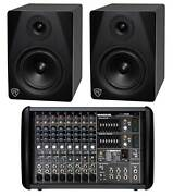 Mackie Ppm608 8-ch 1000w Pro Powered Mixer With 32 Bit Fx+2 Powered Monitors