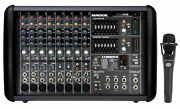 Mackie Ppm608 8 Channel 1000w Pro Active Powered Mixer With 32 Bit Fx+blue Mic
