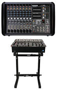 Mackie Ppm608 8 Channel 1000 Watt Pro Active Powered Mixer With 32 Bit Fx+stand