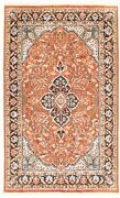Vintage Hand-knotted Carpet 5'9 X 9'4 Traditional Dark Copper Silk Area Rug