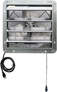 Iliving 14 Wall Mounted Shutter Exhaust Thermostat Control-3 Speeds Vent Fan Fo