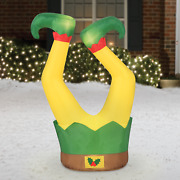 Elf Legs Christmas Inflatable 3.5 Ft. Tall Yard Character Decorations