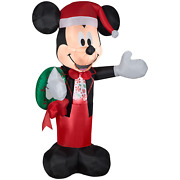 5ft Tall Mickey Mouse Inflatable Christmas Yard Decoration Character