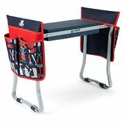 Foldable Garden Stool Kneeler With Two Tool Pouches - Premium Gardening Knee Pad