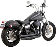 Vance And Hines Big Shots Staggered 22 Full System Exhaust Black 47938