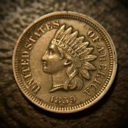 1859 Indian Head Cent/penny. Xf