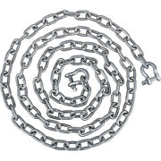 Vevor Galvanized Steel 5/16 X 10 Ft Boat Anchor Lead Chain W/ 3/8 2 Shackles
