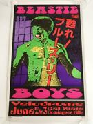 Beastie Boys 90s Kozik Silkscreen Limited Poster Multi-color Concert With Sign