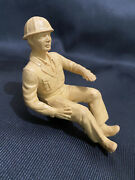 Vtg Realistic Rubber 4 Inch Construction Worker Toy Driver Marx Auburn Rubber