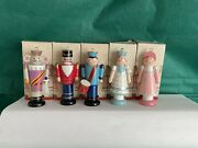 Vintage Avon Nutcracker Christmas Ornaments 1984 Complete Set Of 5 In Boxes